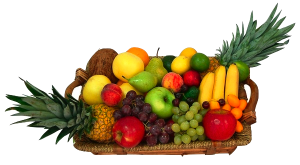 Fresh fruits and veggies