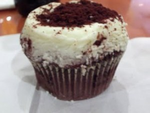 CRUMBS red velvet cupcake!